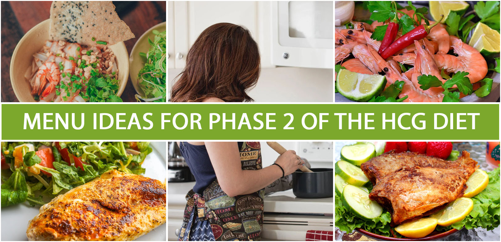 MENU IDEAS FOR PHASE 2 OF THE HCG DIET