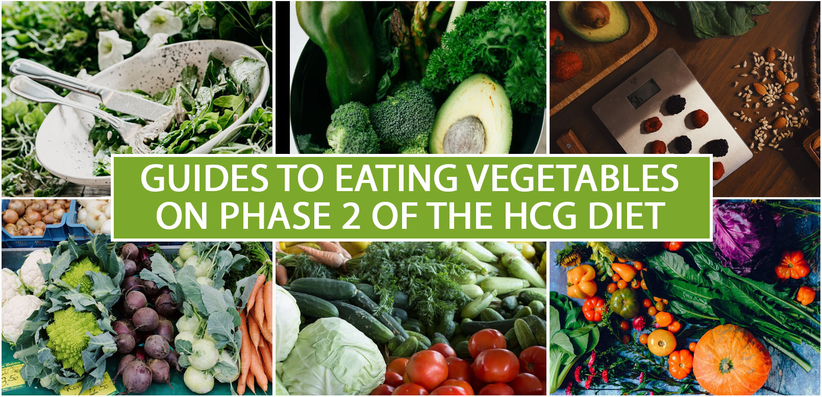 GUIDES TO EATING VEGETABLES ON PHASE 2 OF THE HCG DIET