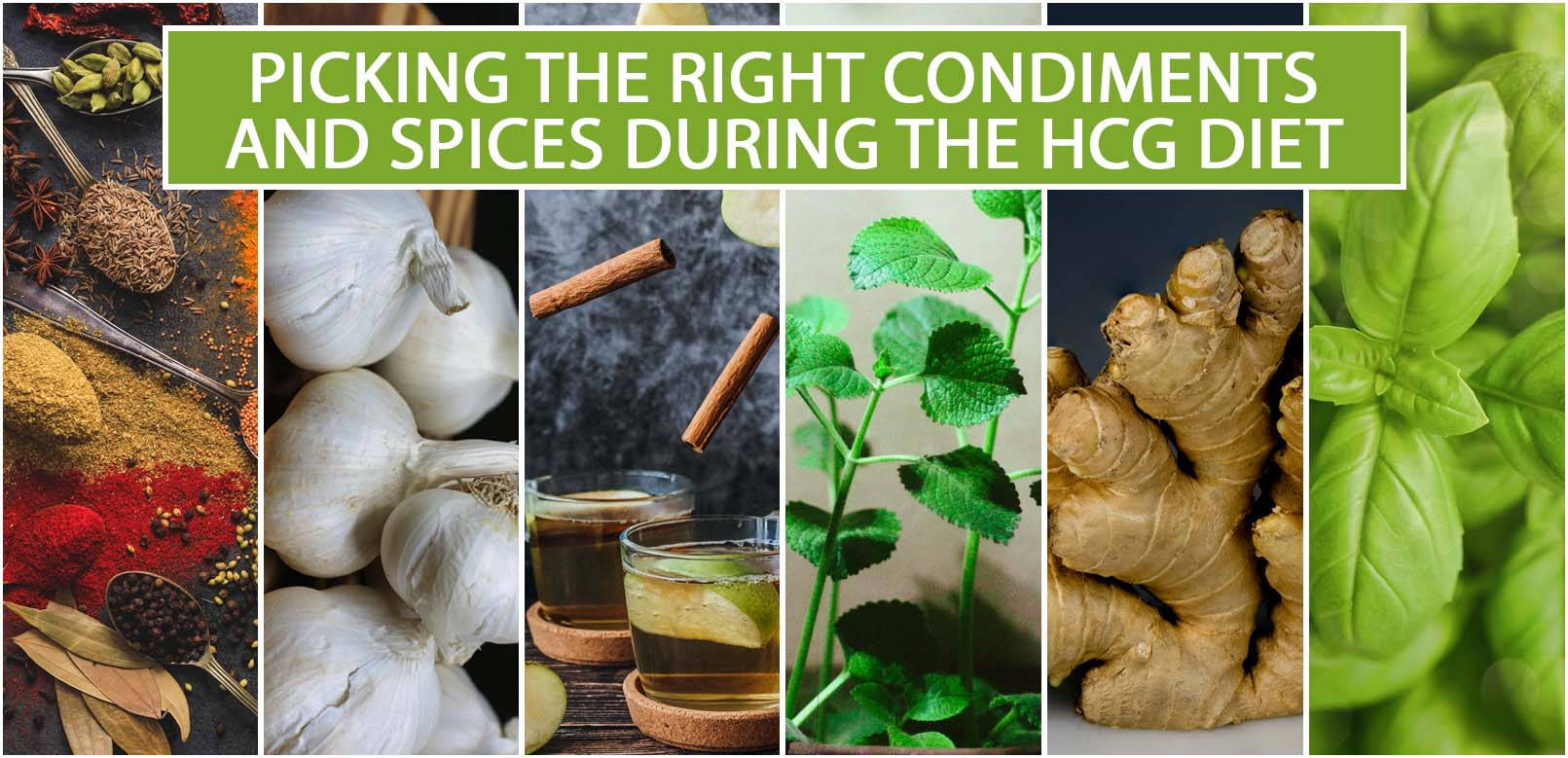 PICKING THE RIGHT CONDIMENTS AND SPICES DURING THE HCG DIET