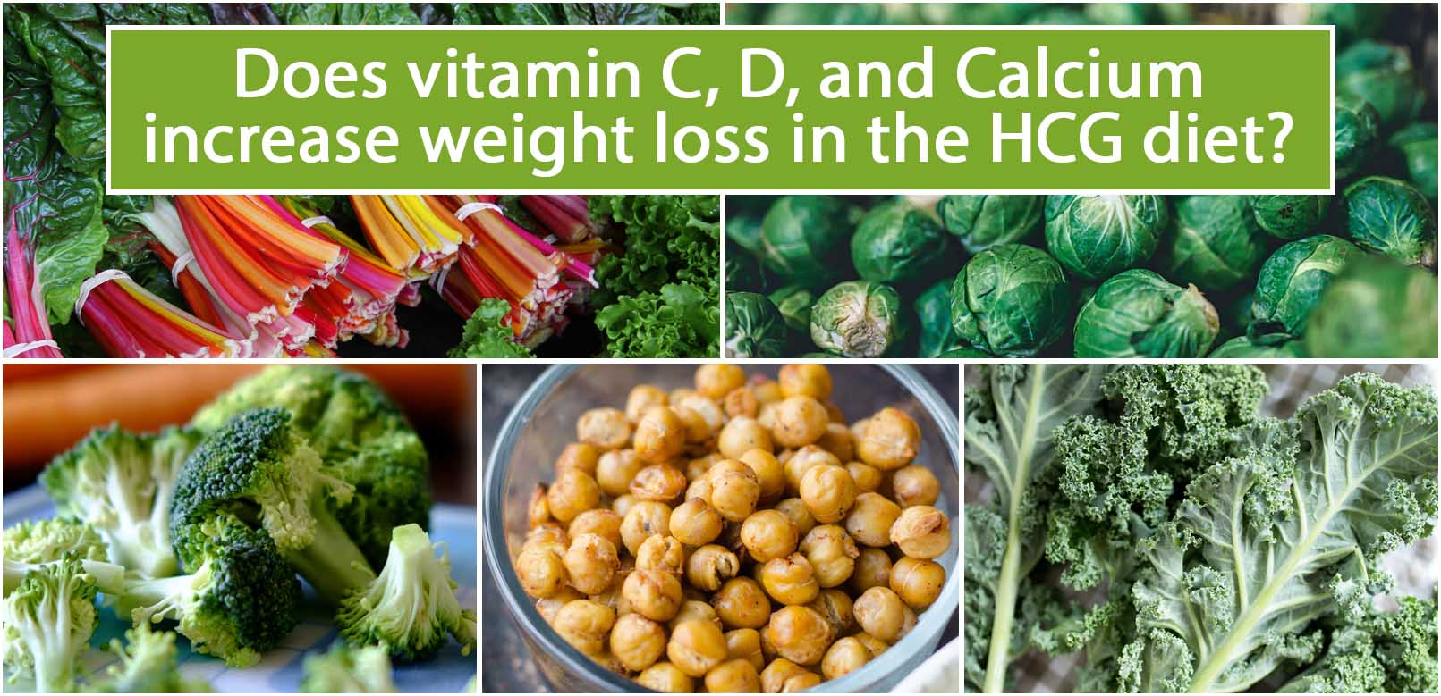 Does vitamin C, D, and Calcium increase weight loss in the HCG diet