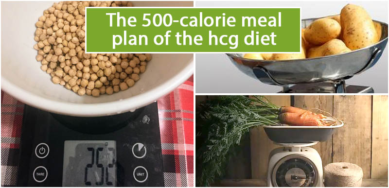 The 500-calorie meal plan of the hcg diet